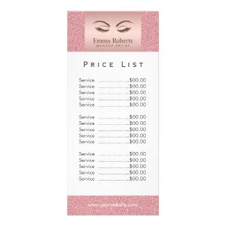Ouro cor-de-rosa da menina da beleza do 10.16 x 22.86cm panfleto