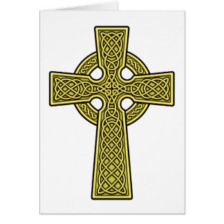 Ouro da cruz celta cartao