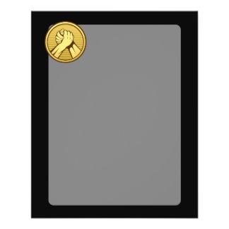 Ouro da luta de braço flyer 11.43 x 14.22cm