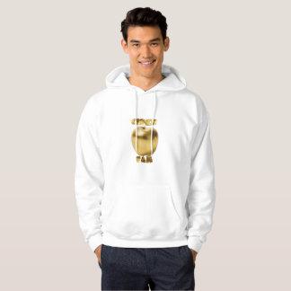Ouro de CiderFam/Hoodie branco do pulôver - meu