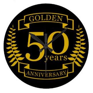 Ouro DOURADO 50 anos de aniversário de casamento Relógio Grande