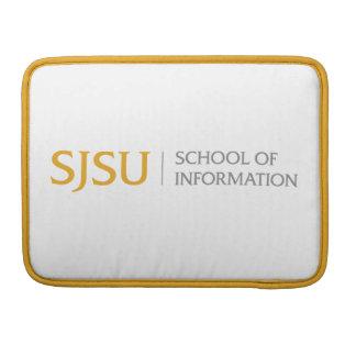 Ouro e a bolsa de laptop cinzenta do logotipo do bolsa MacBook pro