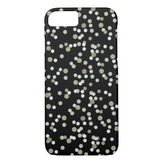 Ouro e confetes pretos capa iPhone 8/7