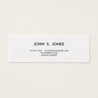 Ouro e damasco clássico branco cartão de visitas mini