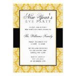 Ouro e partido preto da véspera de ano novo do dam convite personalizados
