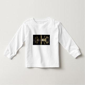 Ouro e presentes pretos do Fractal dos anéis de T-shirts