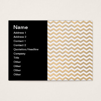Ouro e teste padrão branco de Chevron Cartão De Visitas