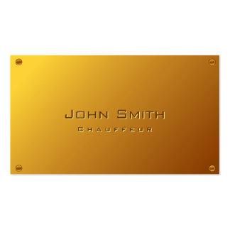 Ouro elegante cartão de visita chapeado do Chauffe