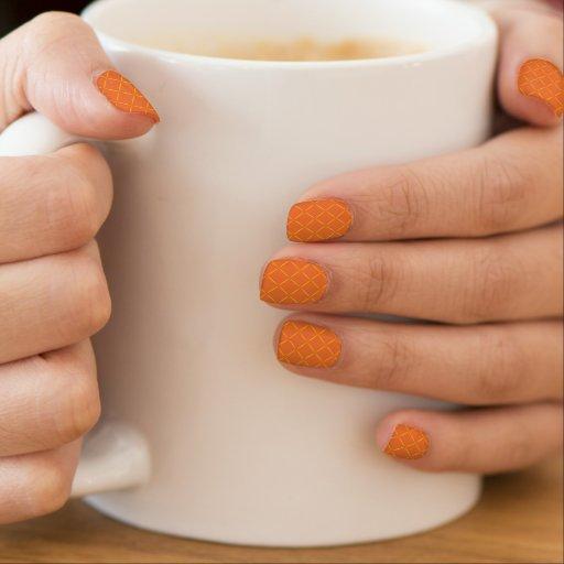 Ouro elegante laranja acolchoada do Dia das Bruxas Adesivos De Unha