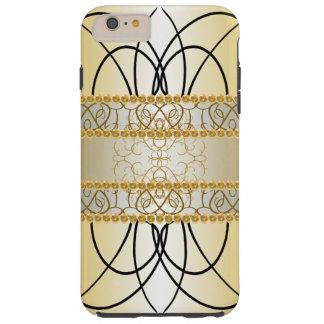 Ouro elegante ornamentado CricketDiane à moda Capas iPhone 6 Plus Tough