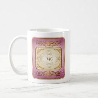 Ouro elegante & profundamente - caneca cor-de-rosa