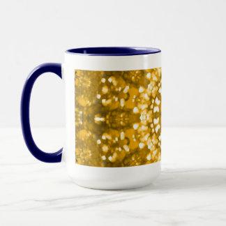 Ouro islâmico da arte geométrico caneca