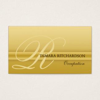 Ouro luxuoso elegante profissional do cartão de
