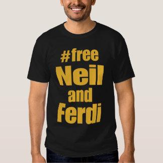 Ouro no tshirt livre preto de Neil e de Ferdi