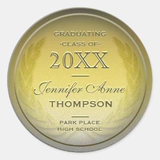 Ouro personalizado graduação adesivo