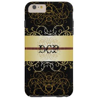 Ouro preto ornamentado CricketDiane Dressy Capa Tough Para iPhone 6 Plus