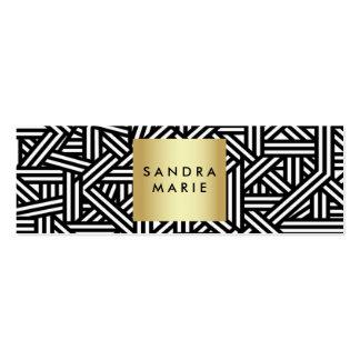 ouro retro magro na moda e cartão de visita preto