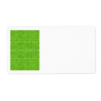 Ouro verde - coleção do esquema do tema etiqueta de frete