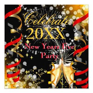 Ouro vermelho festivo de Champagne do partido da Convite Quadrado 13.35 X 13.35cm