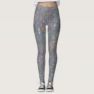 Ouropel de prata leggings