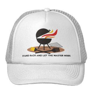 outdoor deck charcoal BBQ grilling t-shirt apro... Trucker Hats
