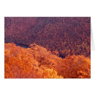 Outono apalaches cartão comemorativo