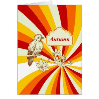Outono Cartão