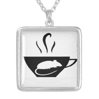 Outono de Emilie - rato e chá do praga Colar Banhado A Prata