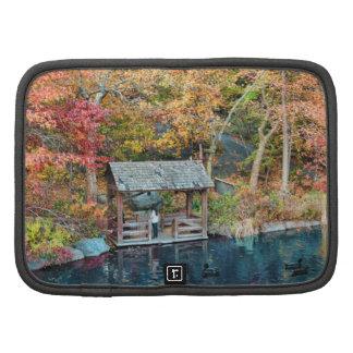 Outono do Central Park de NYC, o lago & pouca doca Agenda