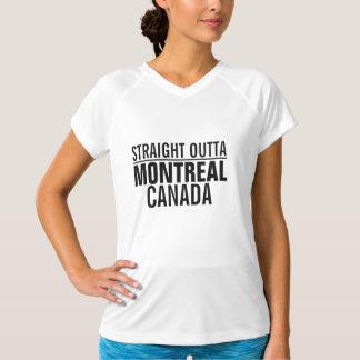 Outta reto Montreal Canadá Camiseta