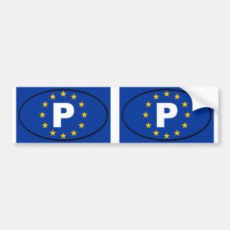 Oval da União Europeia de Portugal P Adesivos