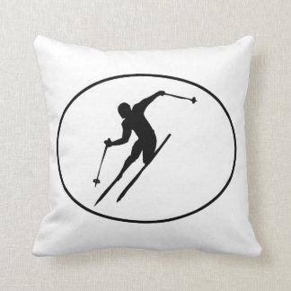 Oval do esquiador travesseiros de decoração