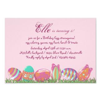 Ovo da páscoa março, festa de aniversário Invitati Convite 12.7 X 17.78cm