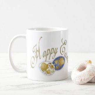 Ovo de felz pascoa - arte popular do russo - 3 caneca de café