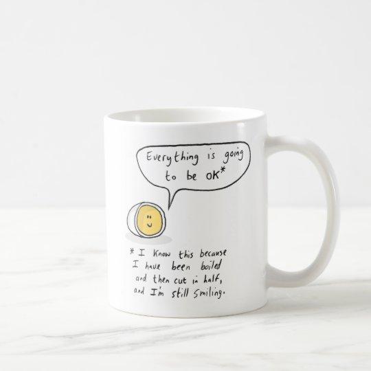 Ovo feliz - tudo está indo ser APROVADO Caneca De Café