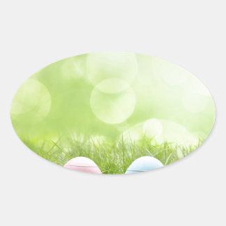 Ovos da páscoa adesivos oval
