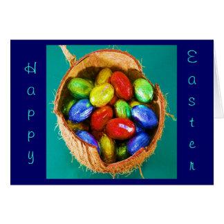 Ovos da páscoa na cesta II Cartões