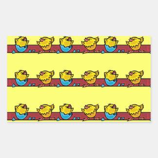 Ovos de choque adesivo retangular