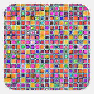 Oxidação e teste padrão rústico roxo dos azulejos adesivos quadrados