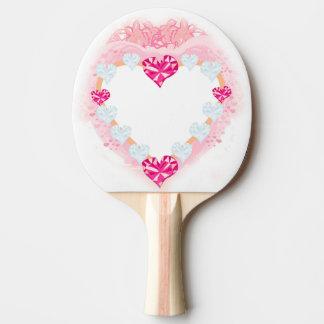 pá cor-de-rosa de Pong do sibilo do coração dos Raquete De Ping Pong