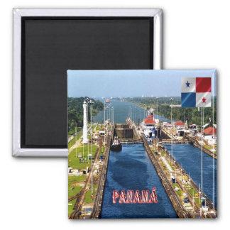 PA - Fechamentos do canal do Panamá Ímã Quadrado