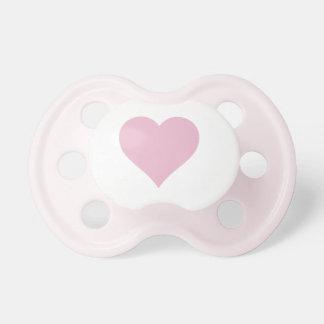 Pacifier cor-de-rosa do coração chupeta