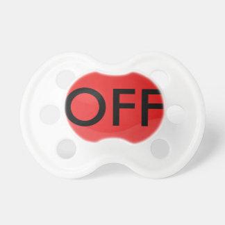 """pacifier do botão de """"OFF"""" Chupeta"""
