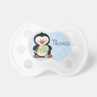 Pacifier do pinguim do bebé a personalizar chupeta