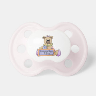 Pacifier do urso do bebê do adeus de Beddy- Chupeta