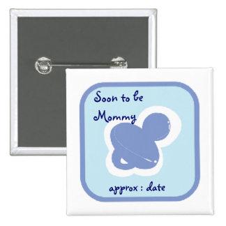 pacifier dos azuis bebés logo a ser mamãe botons