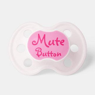 pacifier mudo engraçado do botão chupeta de bebê