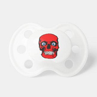 Pacifier vermelho do crânio chupeta