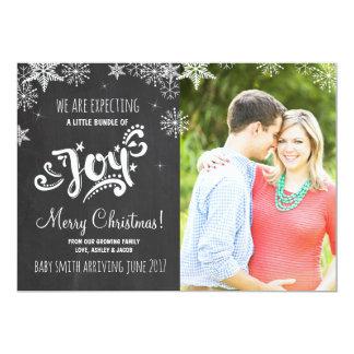 Pacote de anúncio da gravidez do Natal da alegria Convite 12.7 X 17.78cm