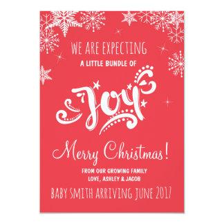 Pacote de vermelho do anúncio da gravidez do Natal Convite 12.7 X 17.78cm